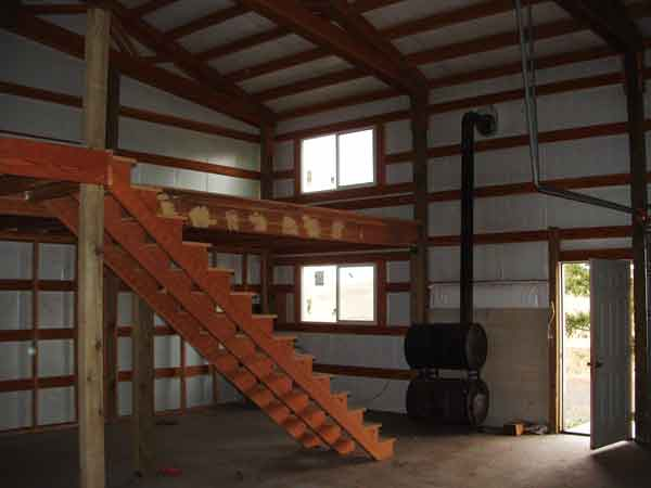 30x40 pole barn loft joy studio design gallery best design for Pole barn with loft